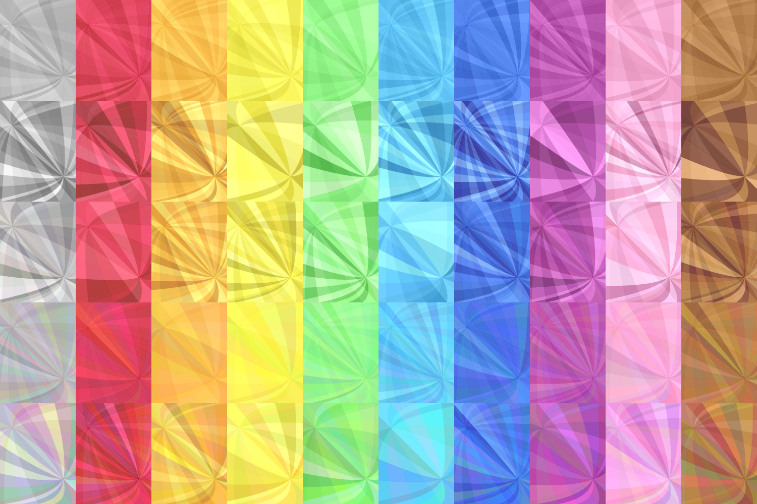 50 Curved Backgrounds (AI, EPS, JPG 5000x5000) example image 3