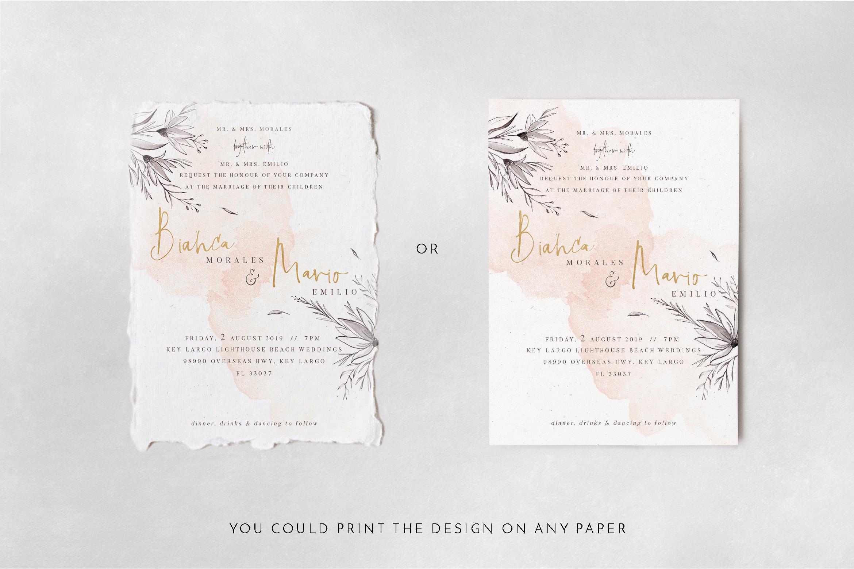 Peach & Grey Floral Wedding Suite example image 6