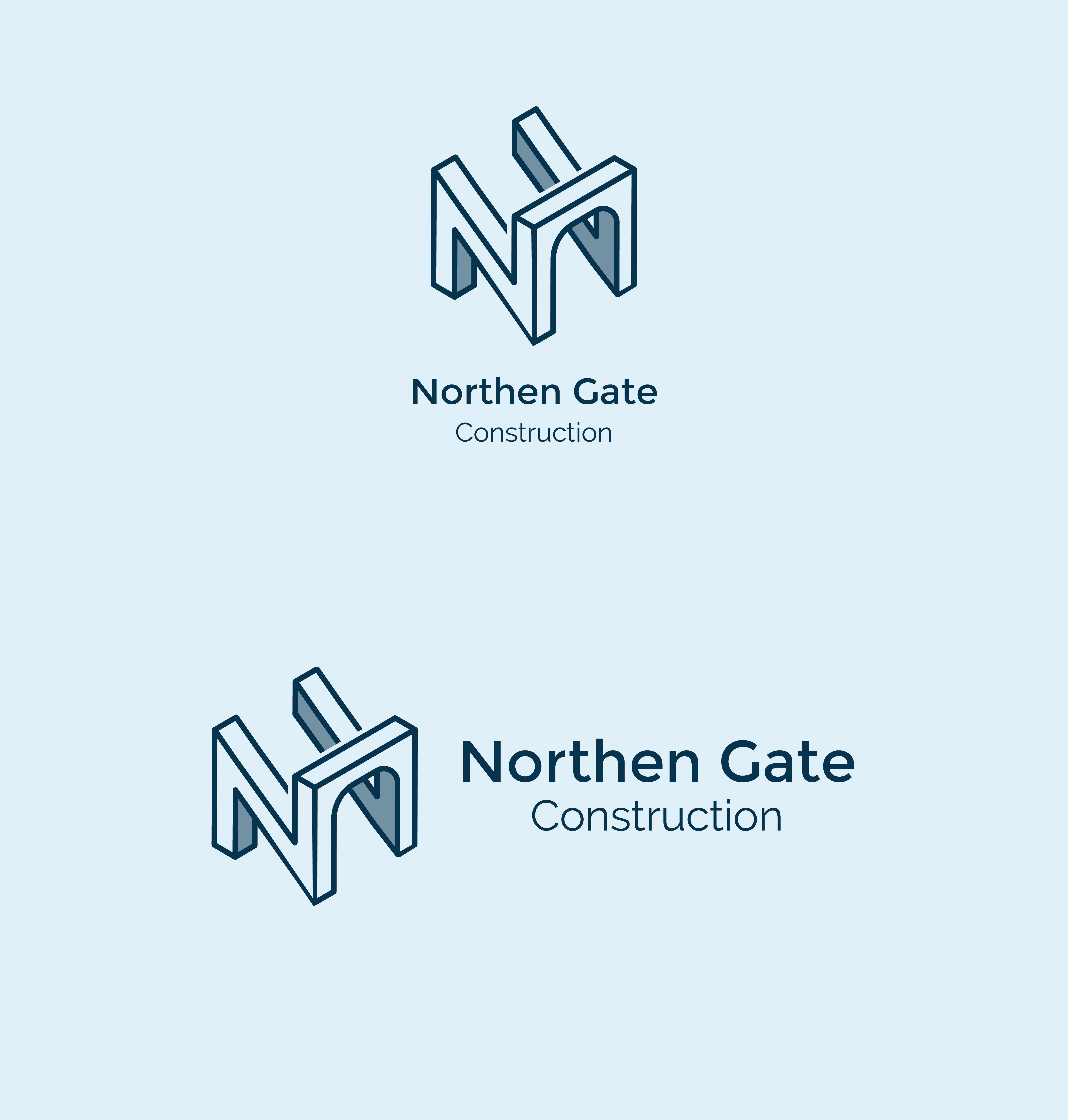 Letter N - Construction Gate Bridge Logo Logo Template example image 6