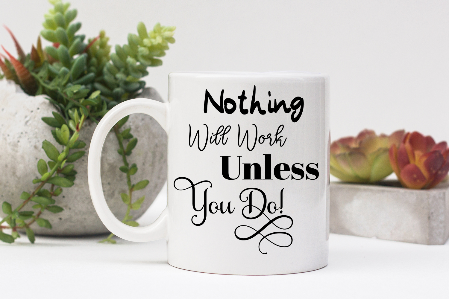 Inspirational Quote - Nothing Will Work Unless You Do example image 4