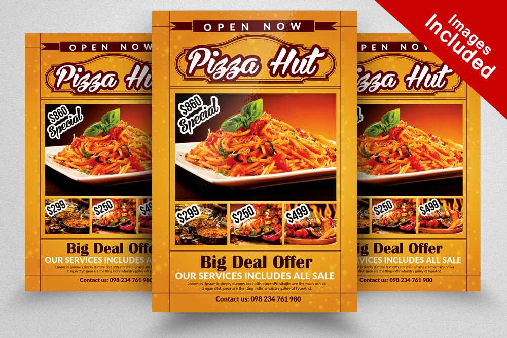 10 Restaurant Flyer Template Bundle example image 9