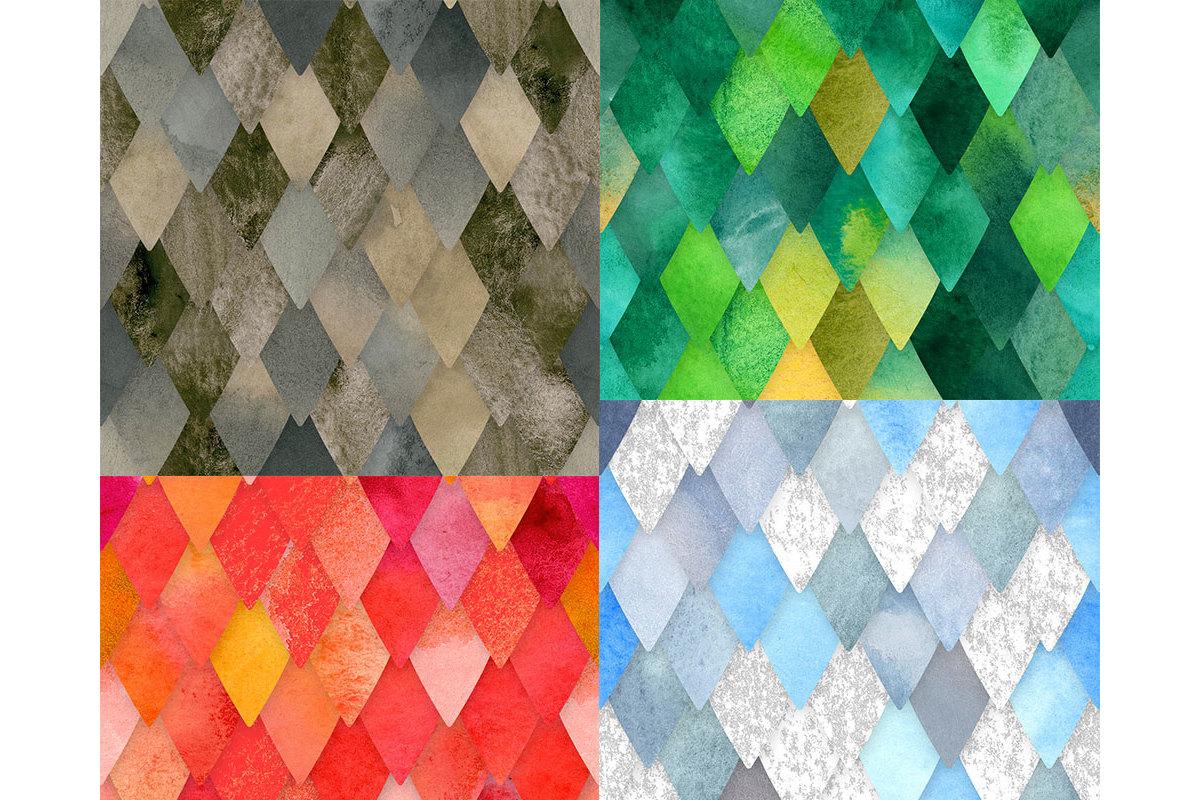 Dragon Scales Seamless Pattern example image 2