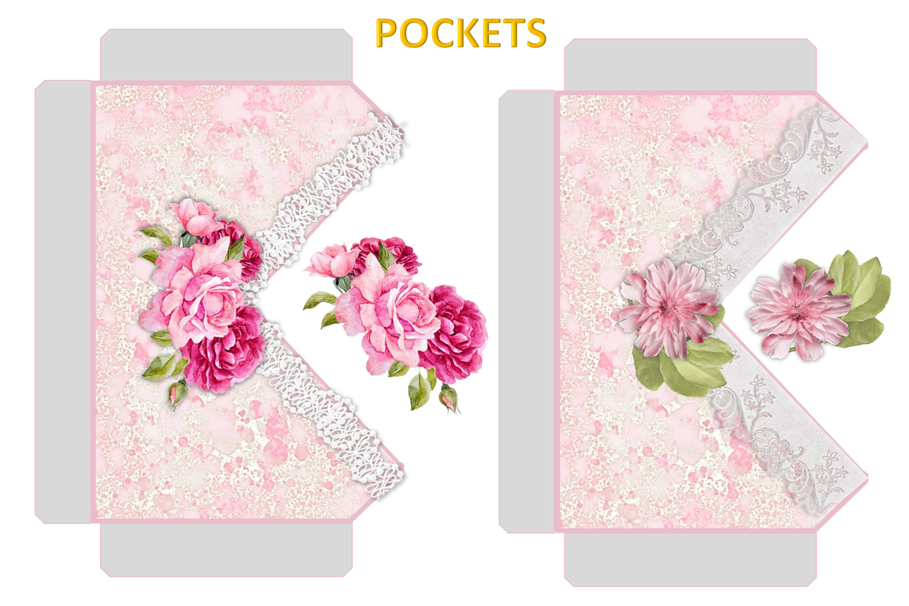 Printable Journaling Kit Romance and lace JPEG PDF PNG example image 7