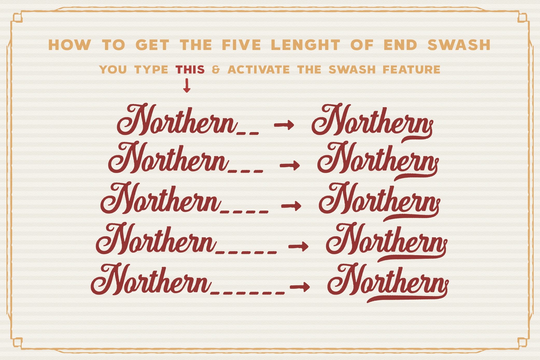 Hanleth Vintage Font Family example image 13