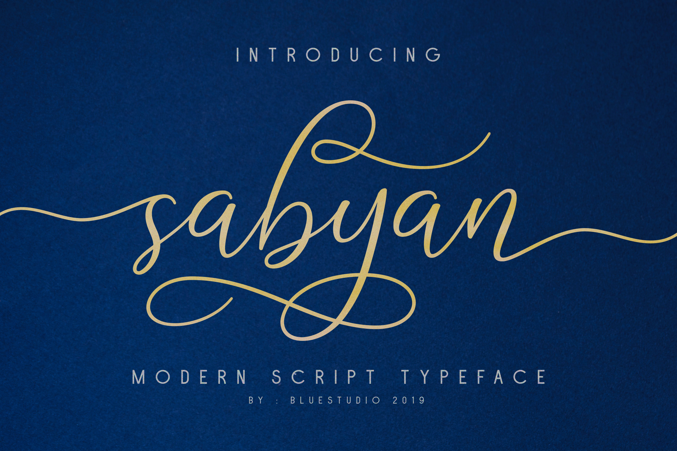 Sabyan // Modern Script Typeface example image 1