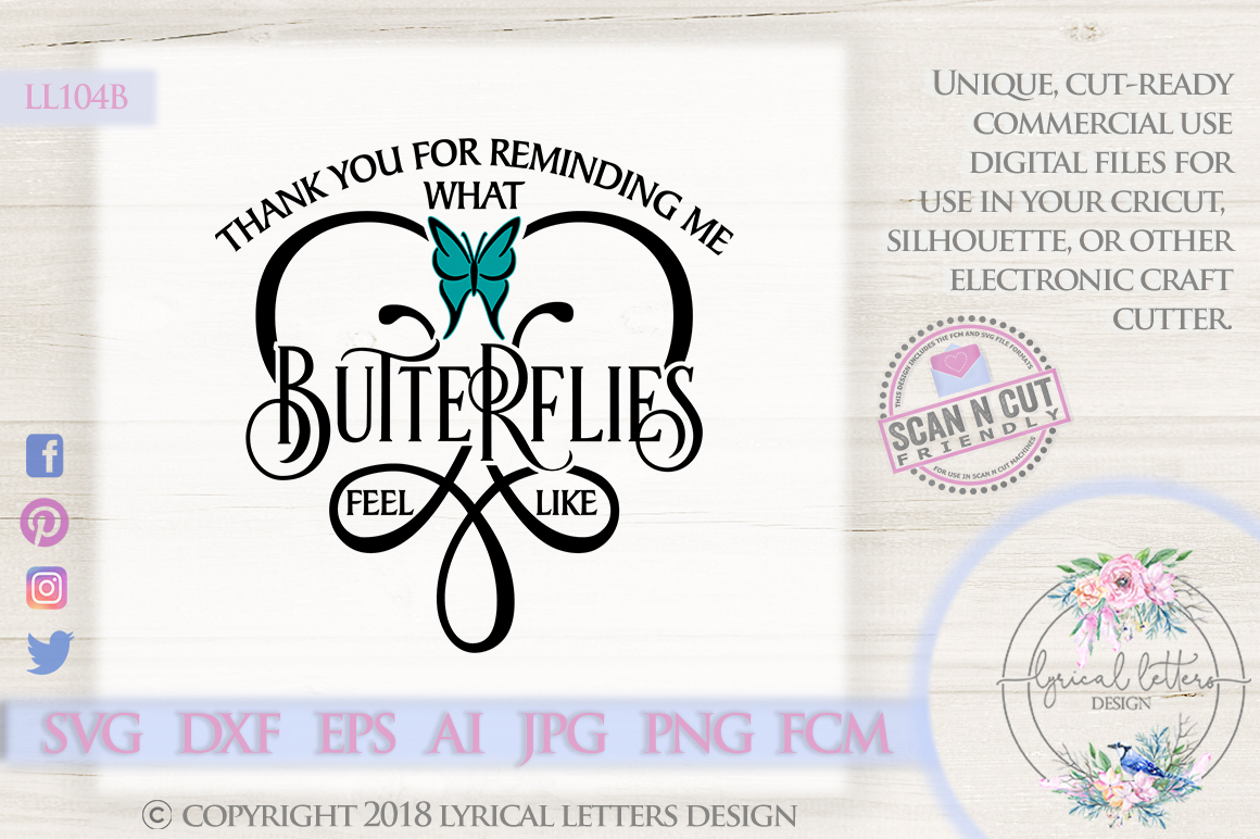 What Butterflies Feel Like Wedding Love SVG Cut File LL104B example image 1
