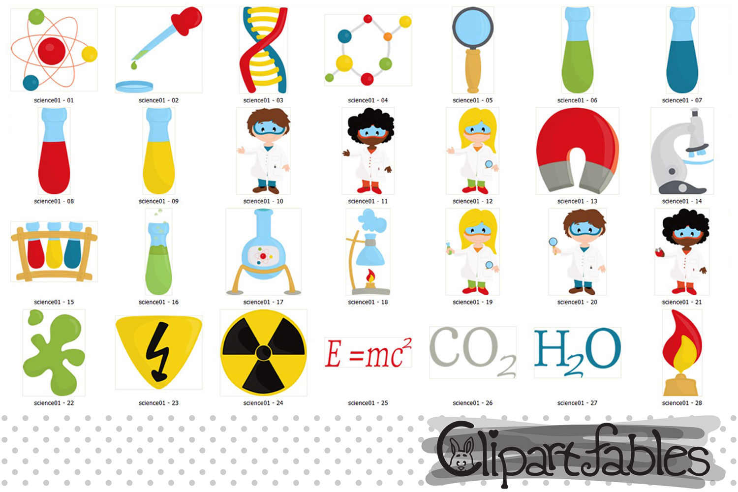Scientist Kids clipart, Cute science Kids, Science Clip art example image 2
