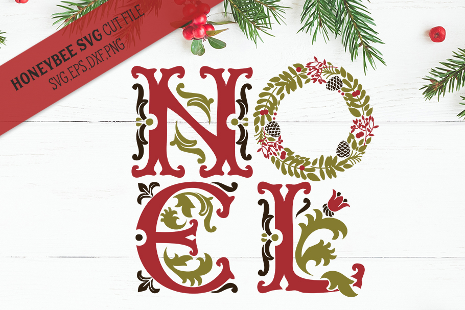 Ornate Noel svg example image 1