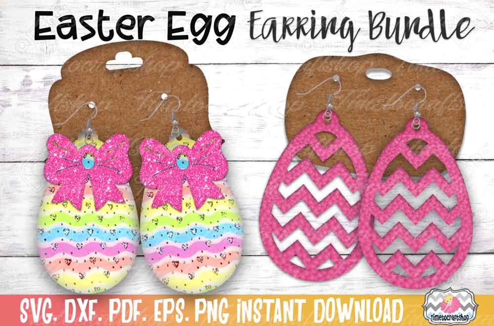 Easter Earring Bundle, Easter Egg Earrings, Cross Earrings example image 3