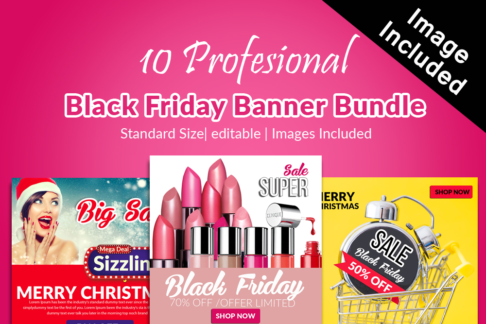 Black Friday Sale Banner Banner example image 1