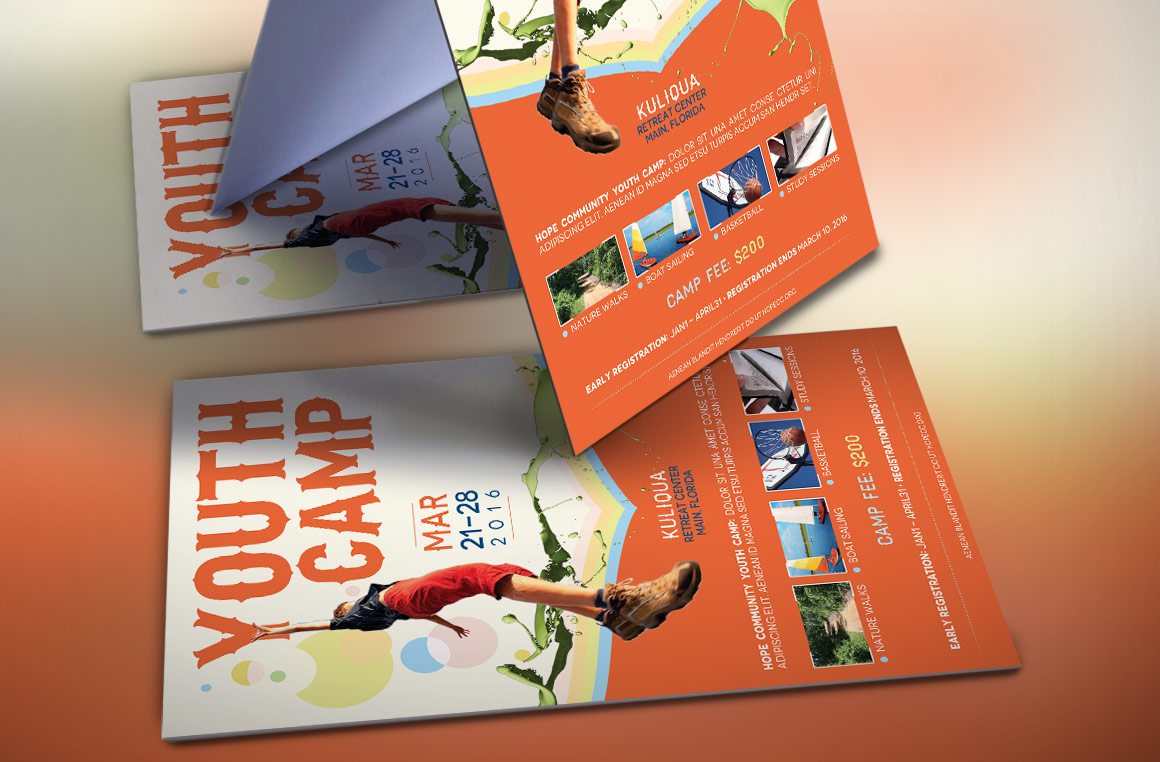 Youth Camp Flyer Template example image 3