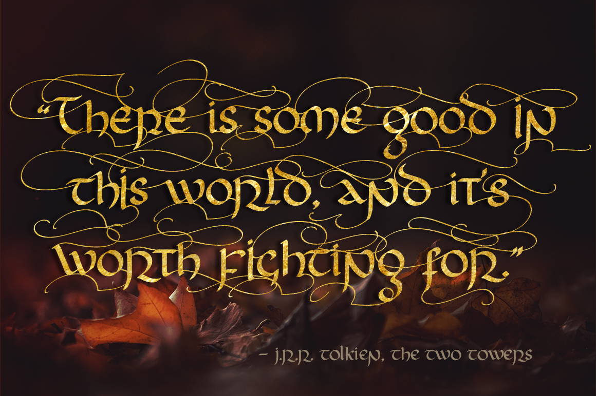 Rivendell. The full of magic font. example image 2