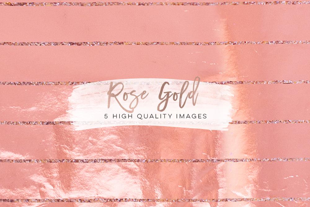 rose gold foil scrapbooking, Confetti Digital Paper, Rose Gold Glam Digital Paper, rose gold glitter foil Metallic texture, planner stickers example image 3