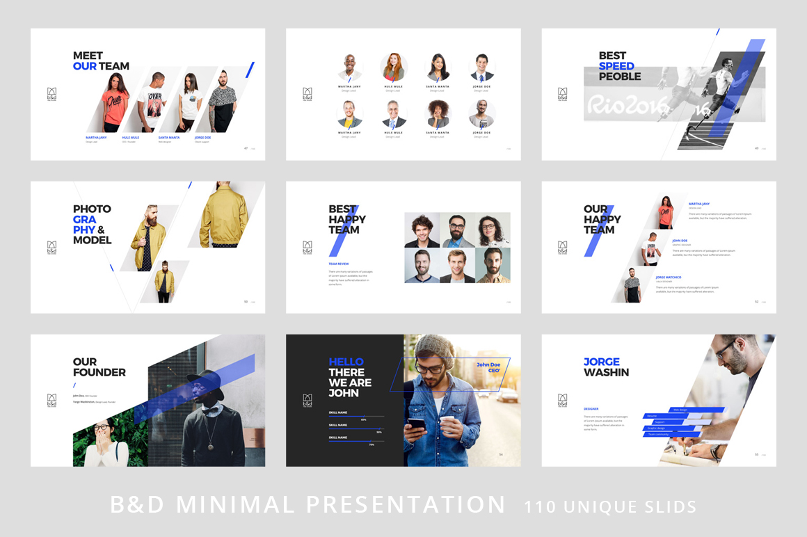 B&D-Powerpoint & Keynote Template example image 7