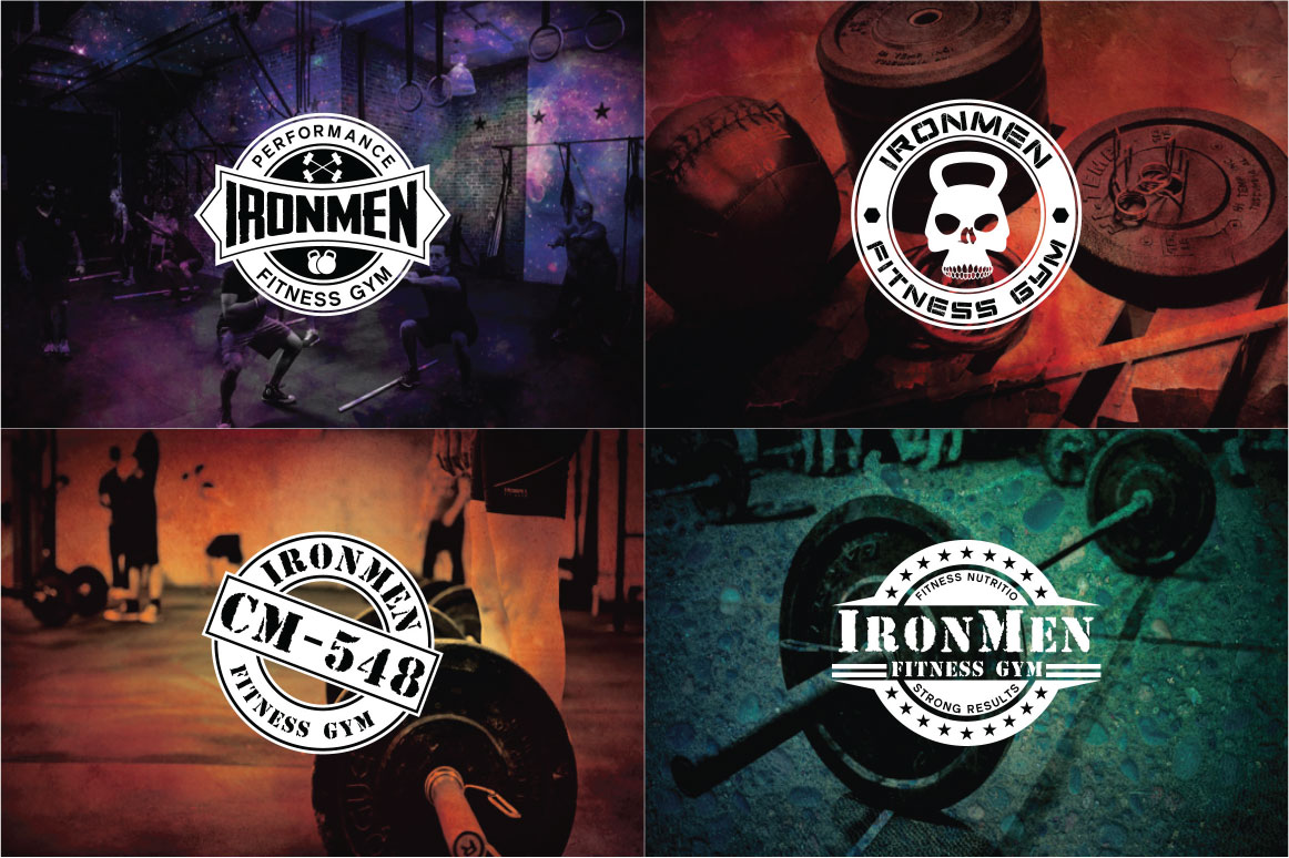 83 fitness gym bundle Logos Labels & Badges example image 6