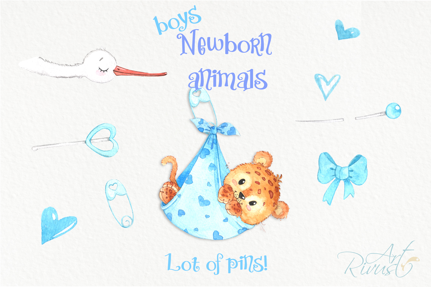 It's a boy Newborn animals clipart PNG download. African Saf example image 5