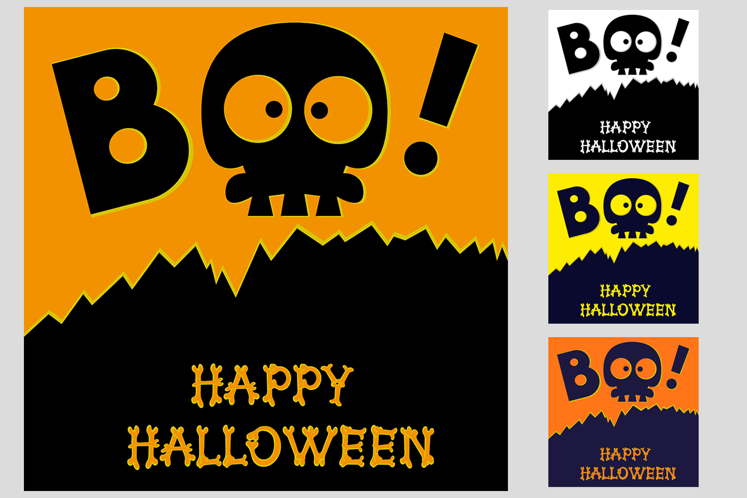 Set of 28 Halloween banner different color and character example image 3