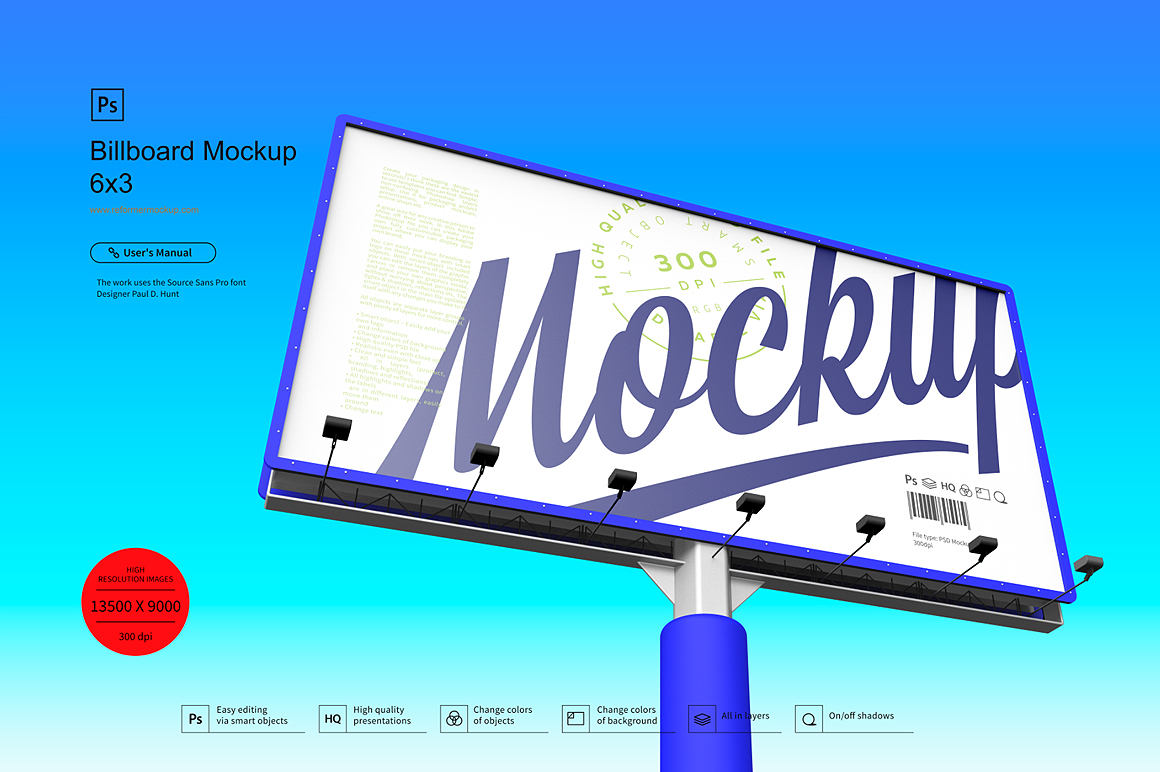 Billboard Mockup 6x3 example image 2