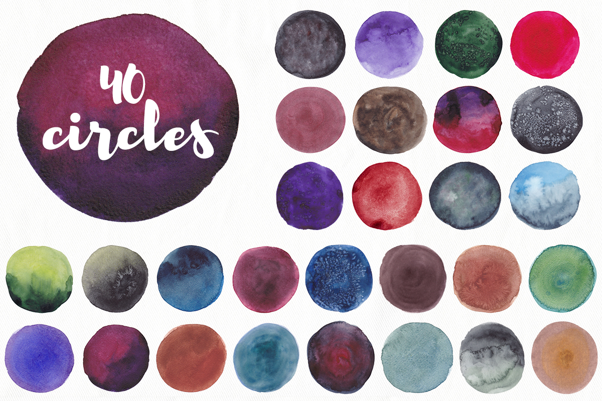 200 watercolor textures and backgrounds. Superbundle! example image 5
