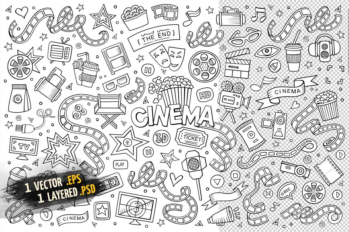 Cinema Objects & Elements Set example image 3