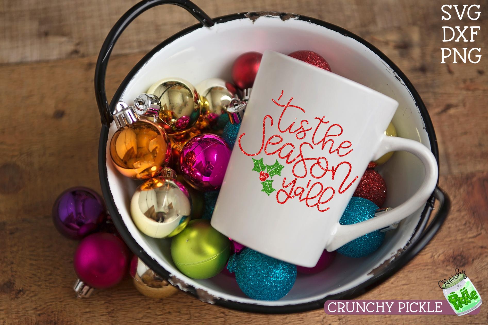 Tis the Season Ya'll Christmas SVG example image 4