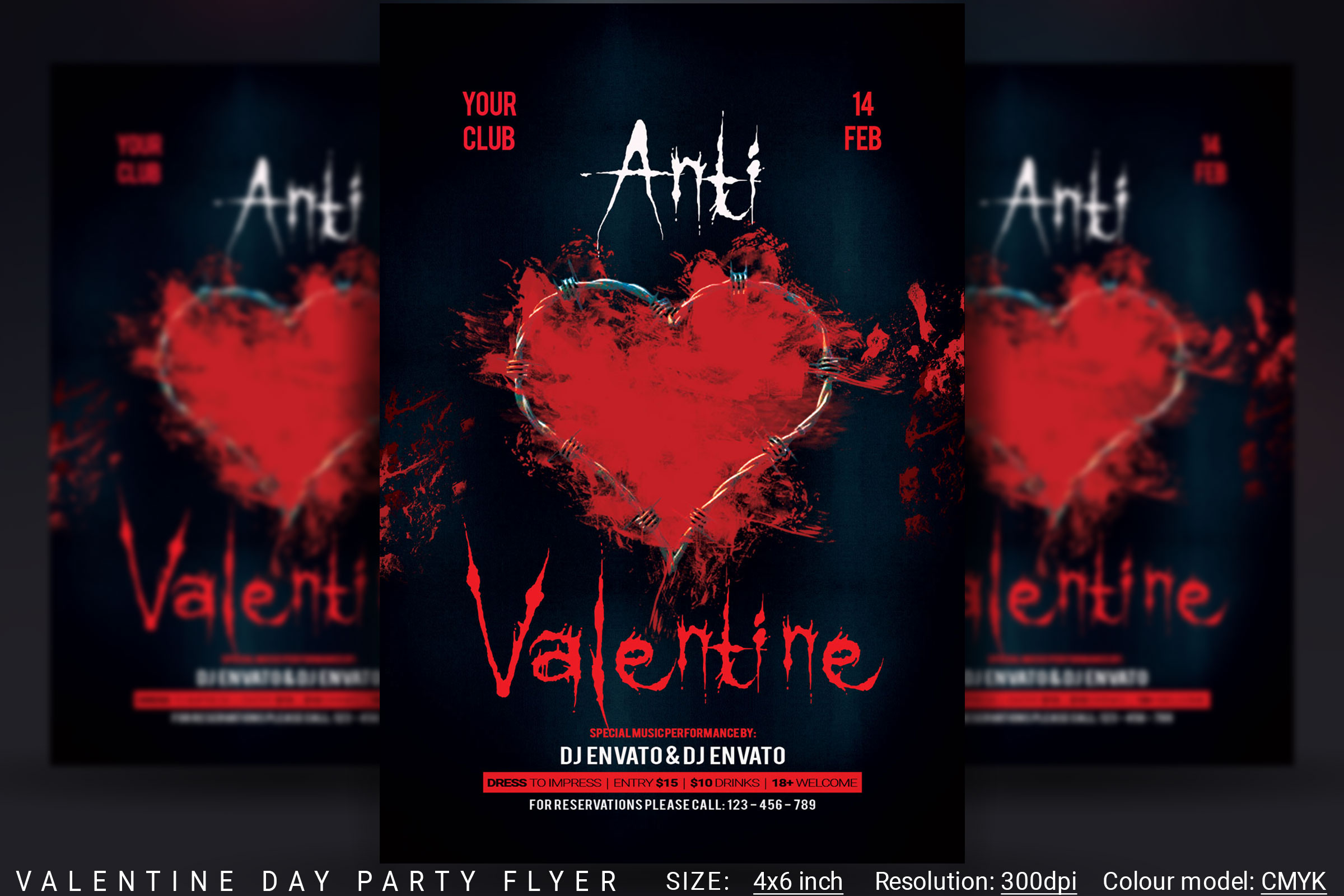 Anti Valentine Day Flyer example image 1