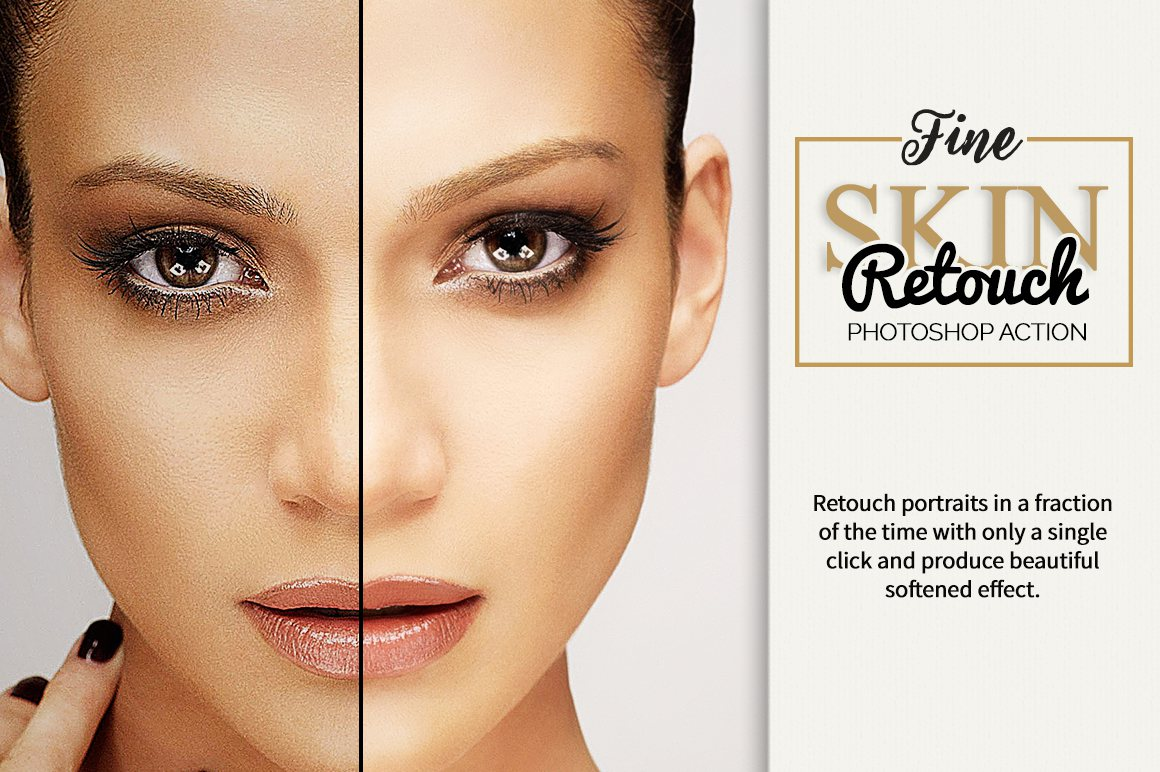 Fine Skin Retouch Photoshop Action example image 1