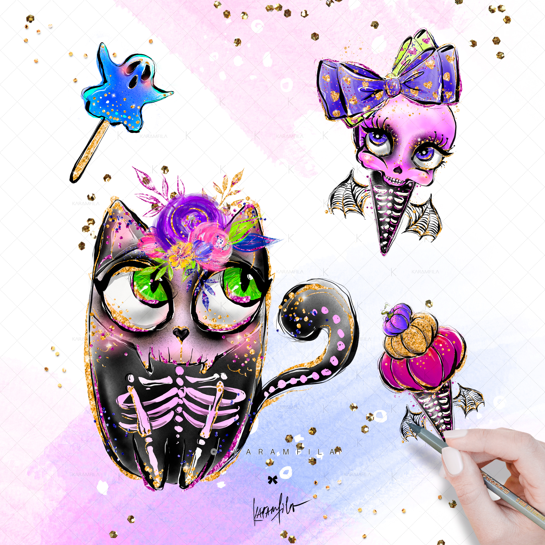 Halloween Clipart, Animal Skulls and Skeletons Clipart ...
