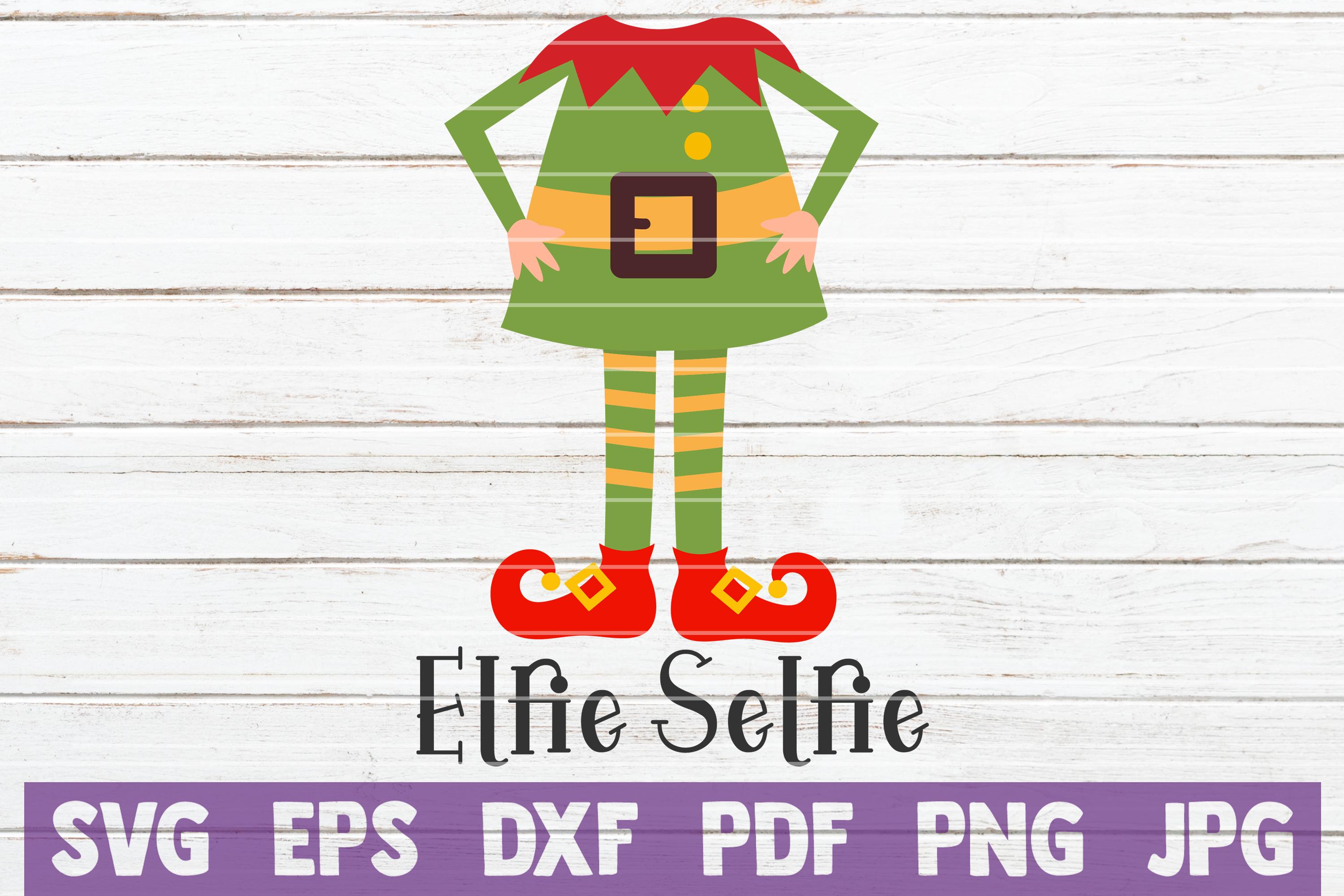 Elfie Selfie SVG Cut File example image 1