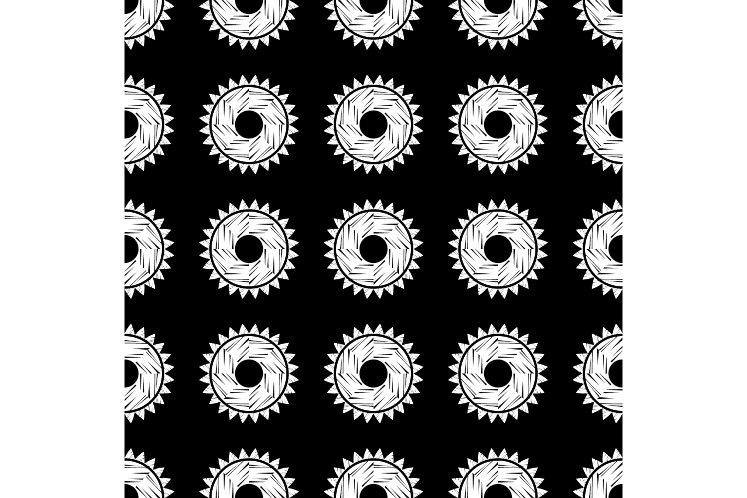 Polka dot ethnic ornament. Set of 10 seamless patterns. example image 9