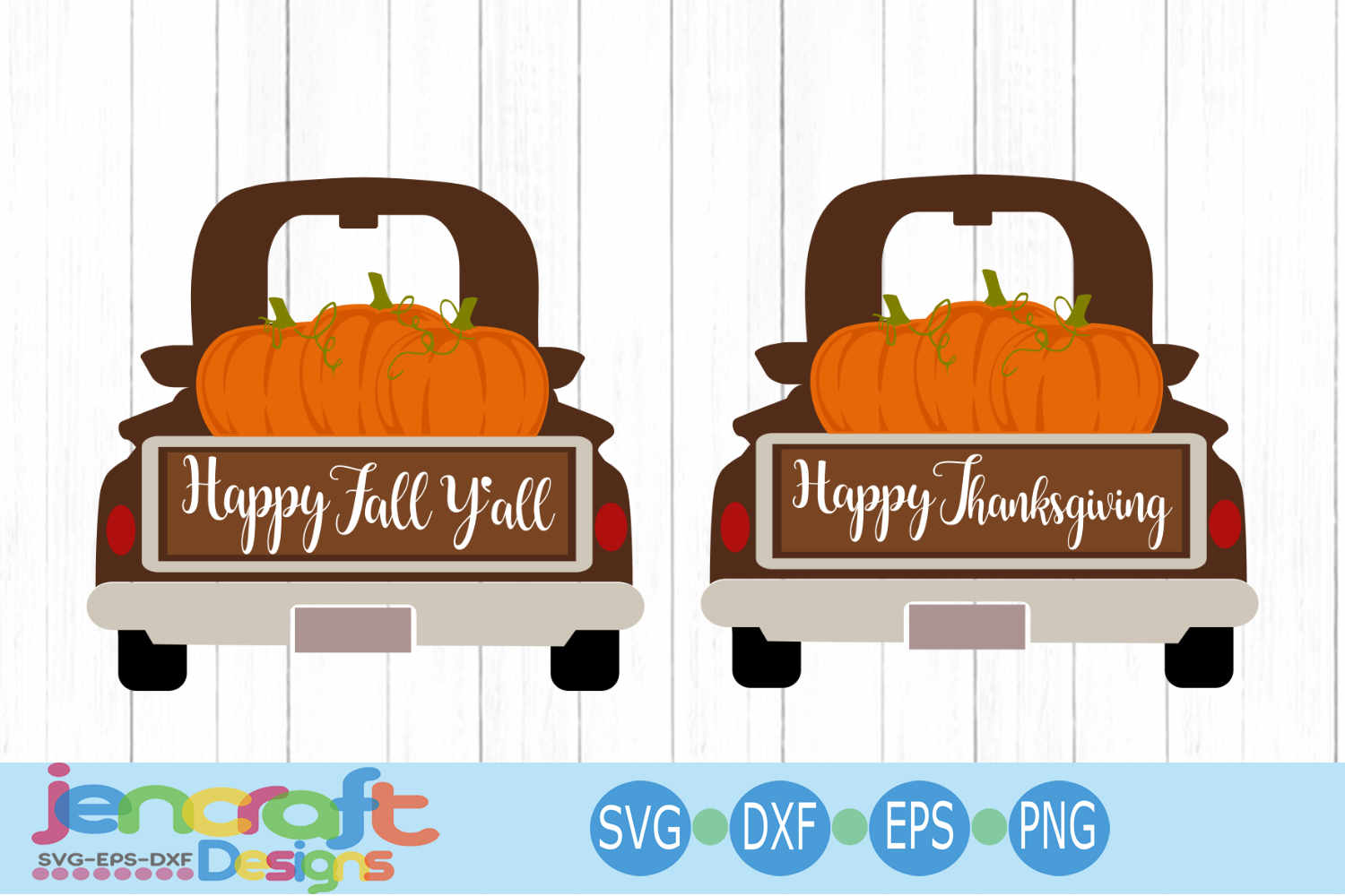 Vintage Fall Pumpkin Red truck SVG Thanksgiving antique old example image 1