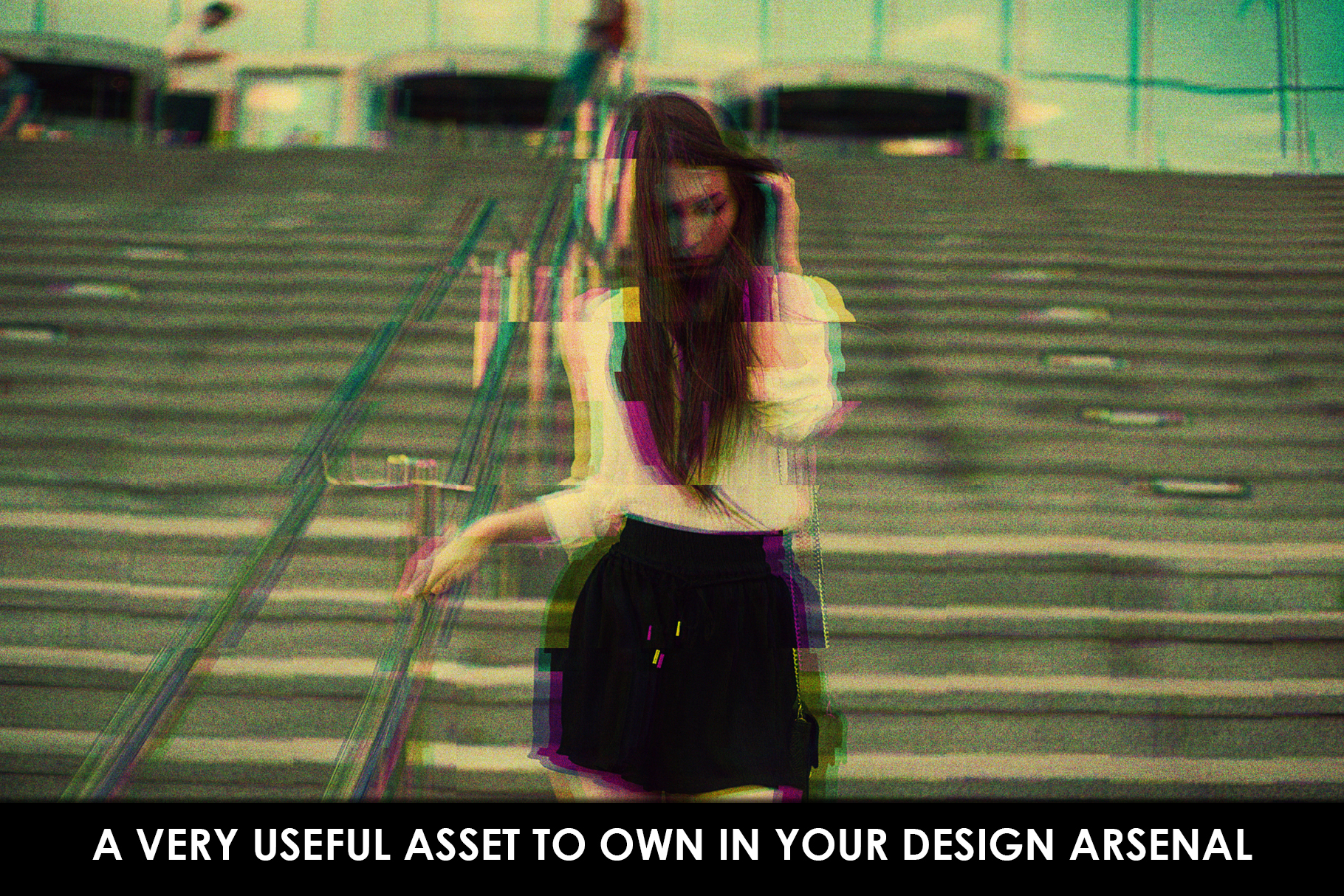Glitch Effect Photoshop Actions example image 6