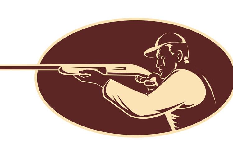 hunter shooting aiming shotgun rifle example image 1