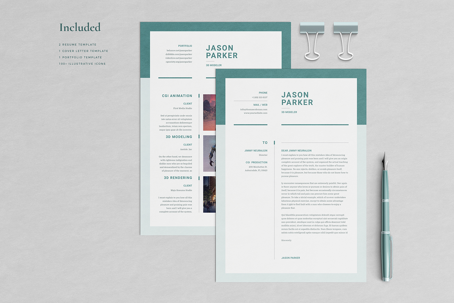 Jason Resume with Cover Letter Professional Template example image 3
