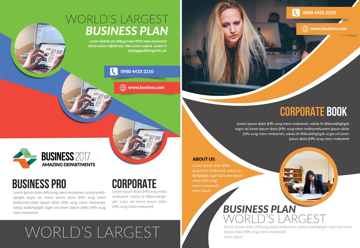100 business flyer template big bundle