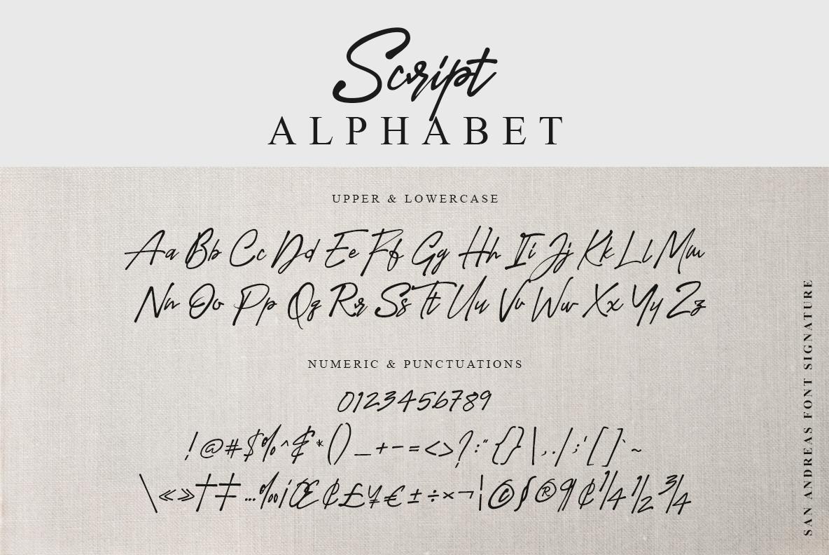 San Andreas Signature Font example image 19