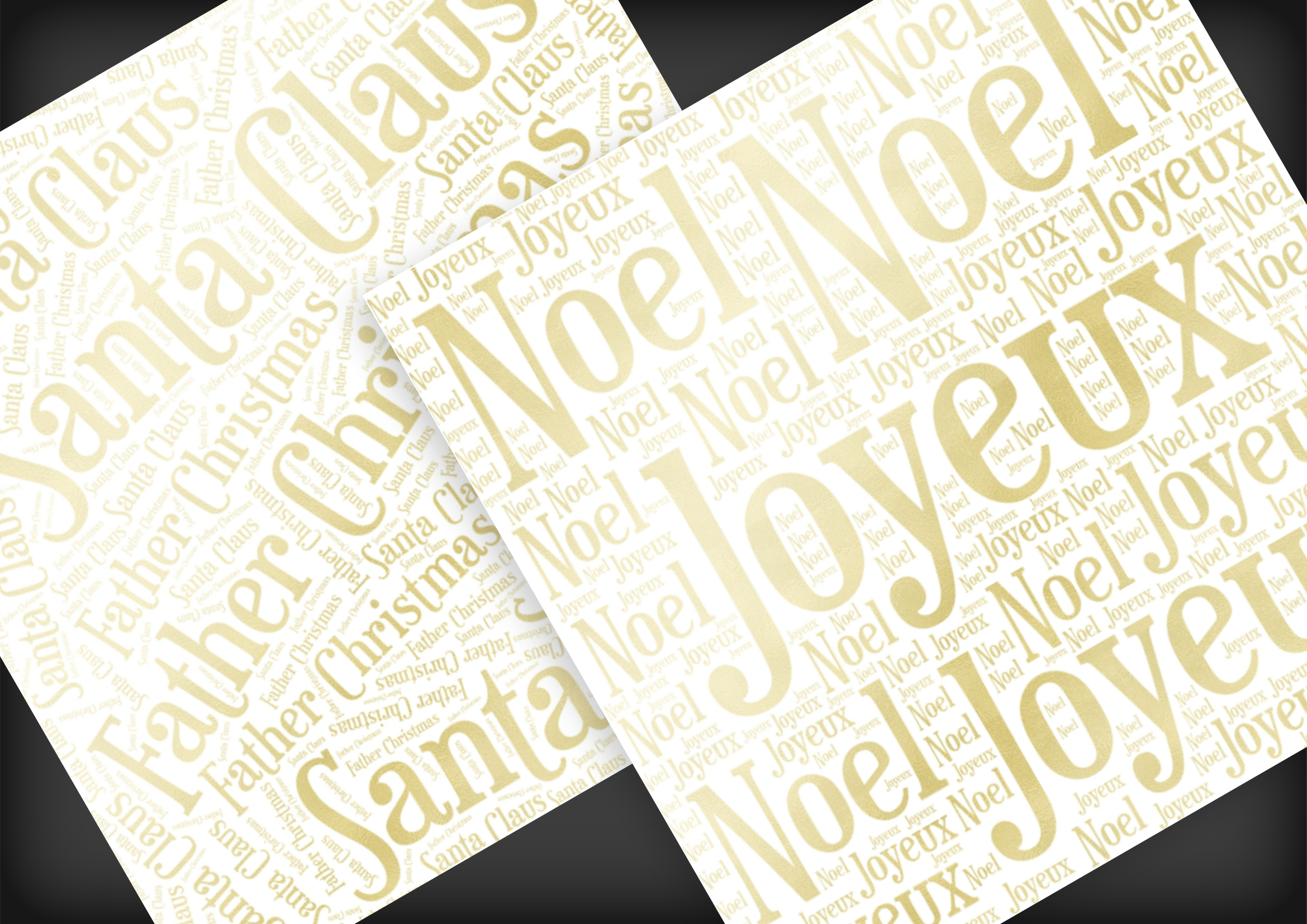 Christmas Soft Gold Word Overlays example image 9