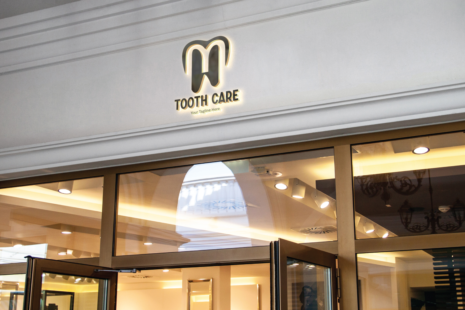 L letter dental tooth logo example image 2