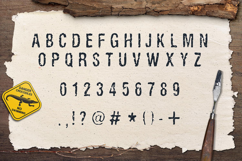 Ugly Alligator - Grunge Typeface example image 3