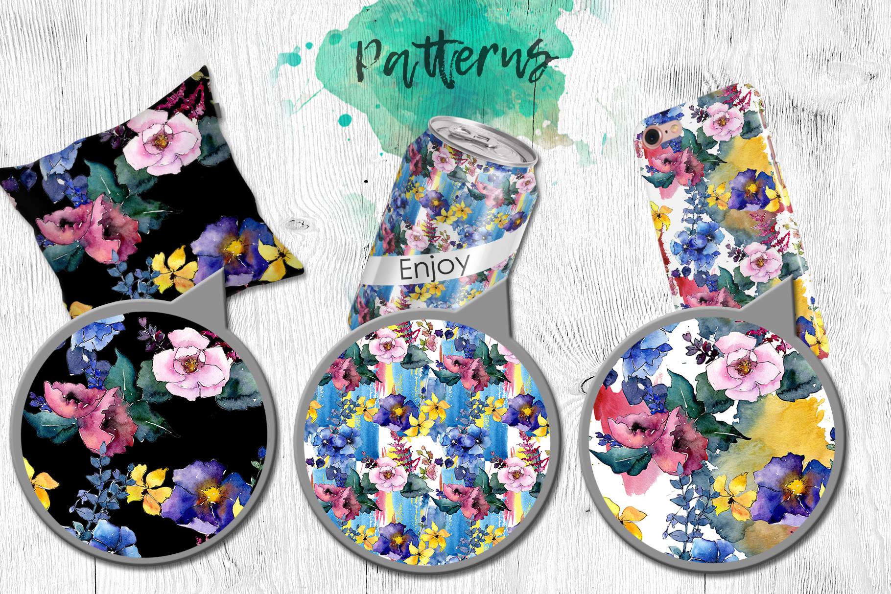 Spring bouquet PNG watercolor flower set  example image 3