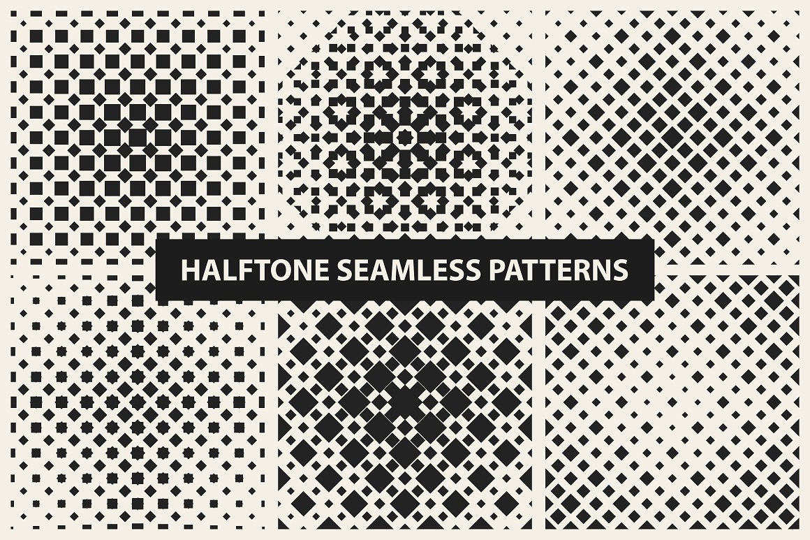 Halftone seamless patterns example image 10