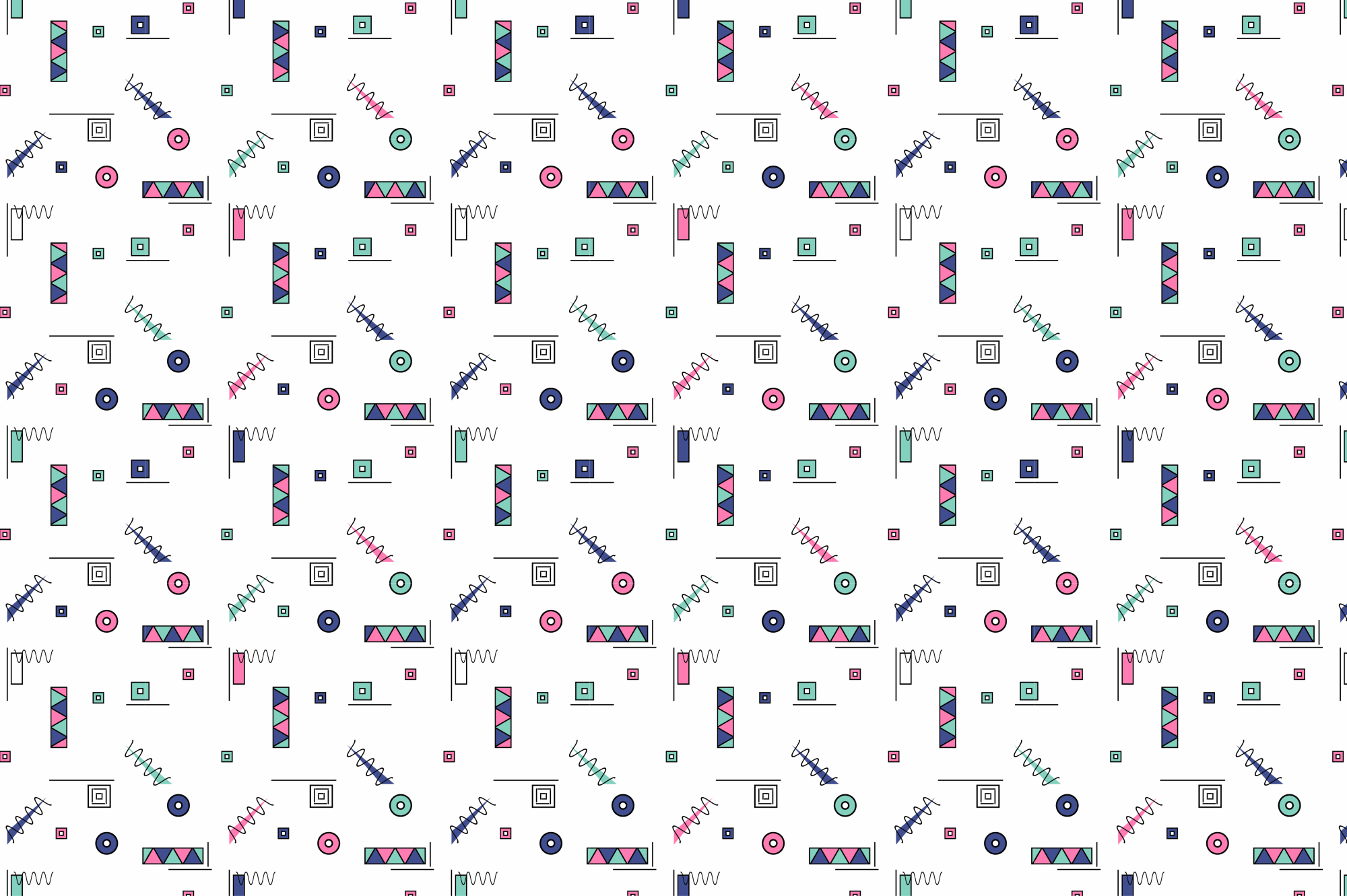 Colorful Memphis Patterns - seamless example image 6