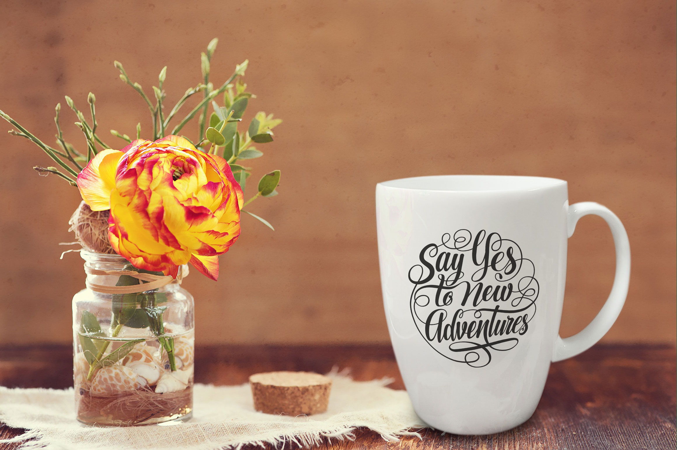 Say Yes to New Adventures Round Lettering SVG example image 3
