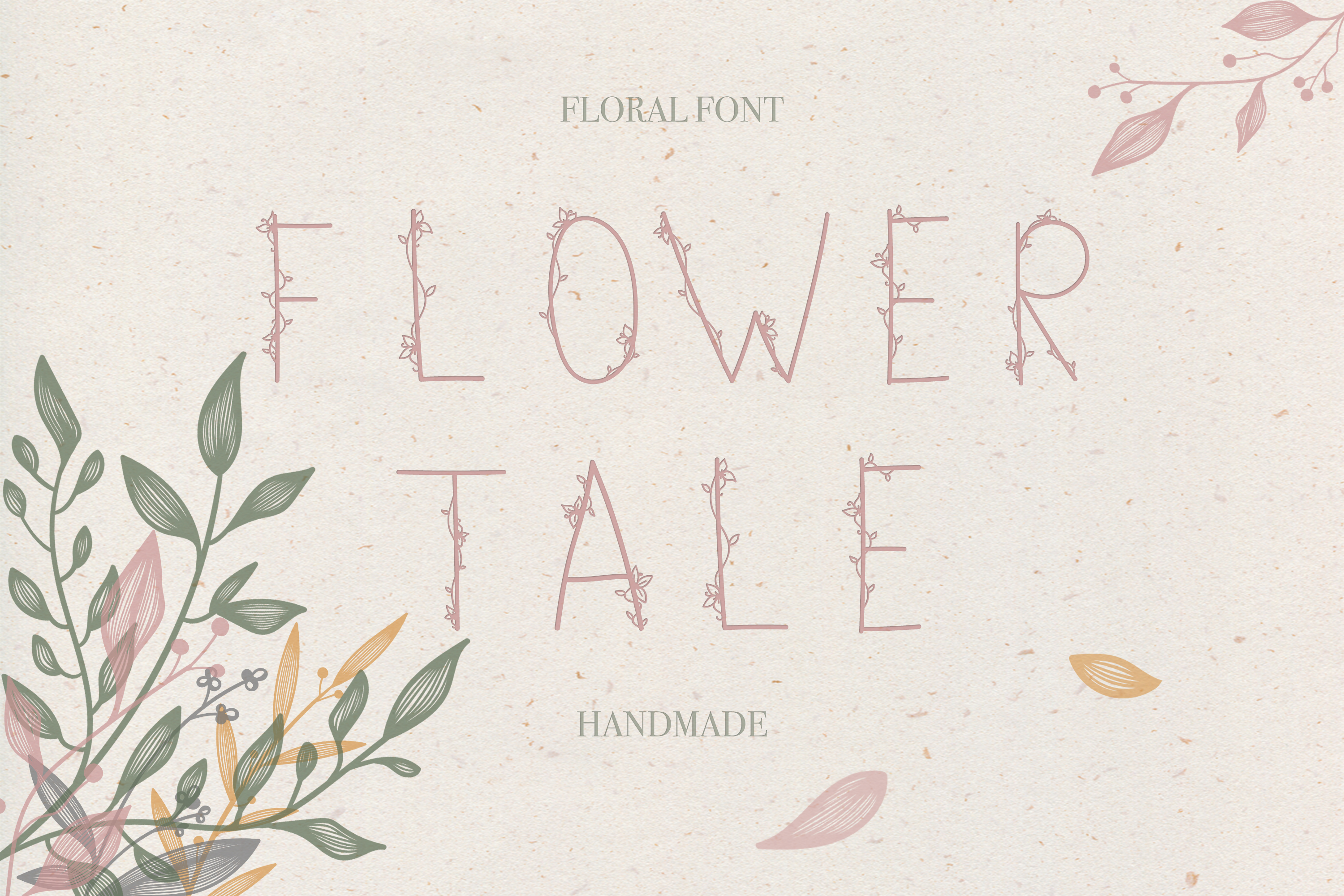 Flower Tale - Handwritten Floral Font example image 1