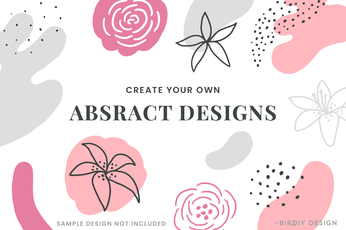 Doodle Abstract Floral Pattern Design Kit example image 3