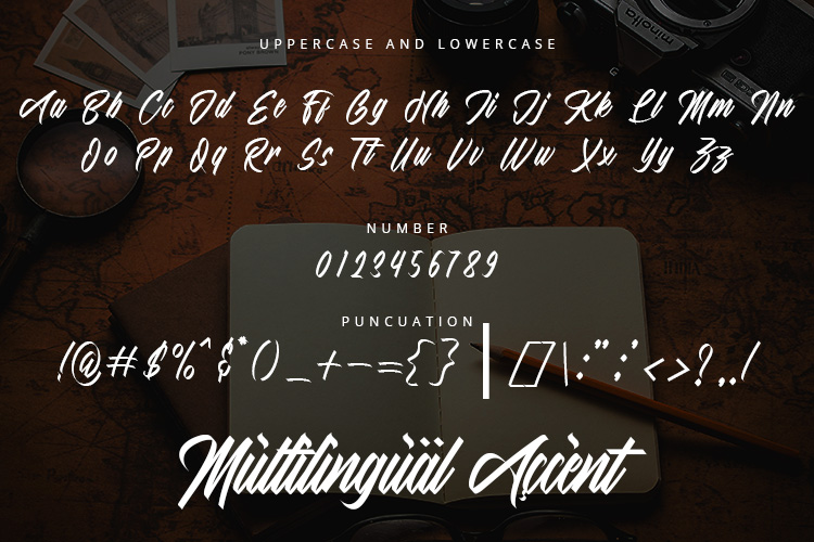 The Mighty Major - Calligraphy Script Font example image 5