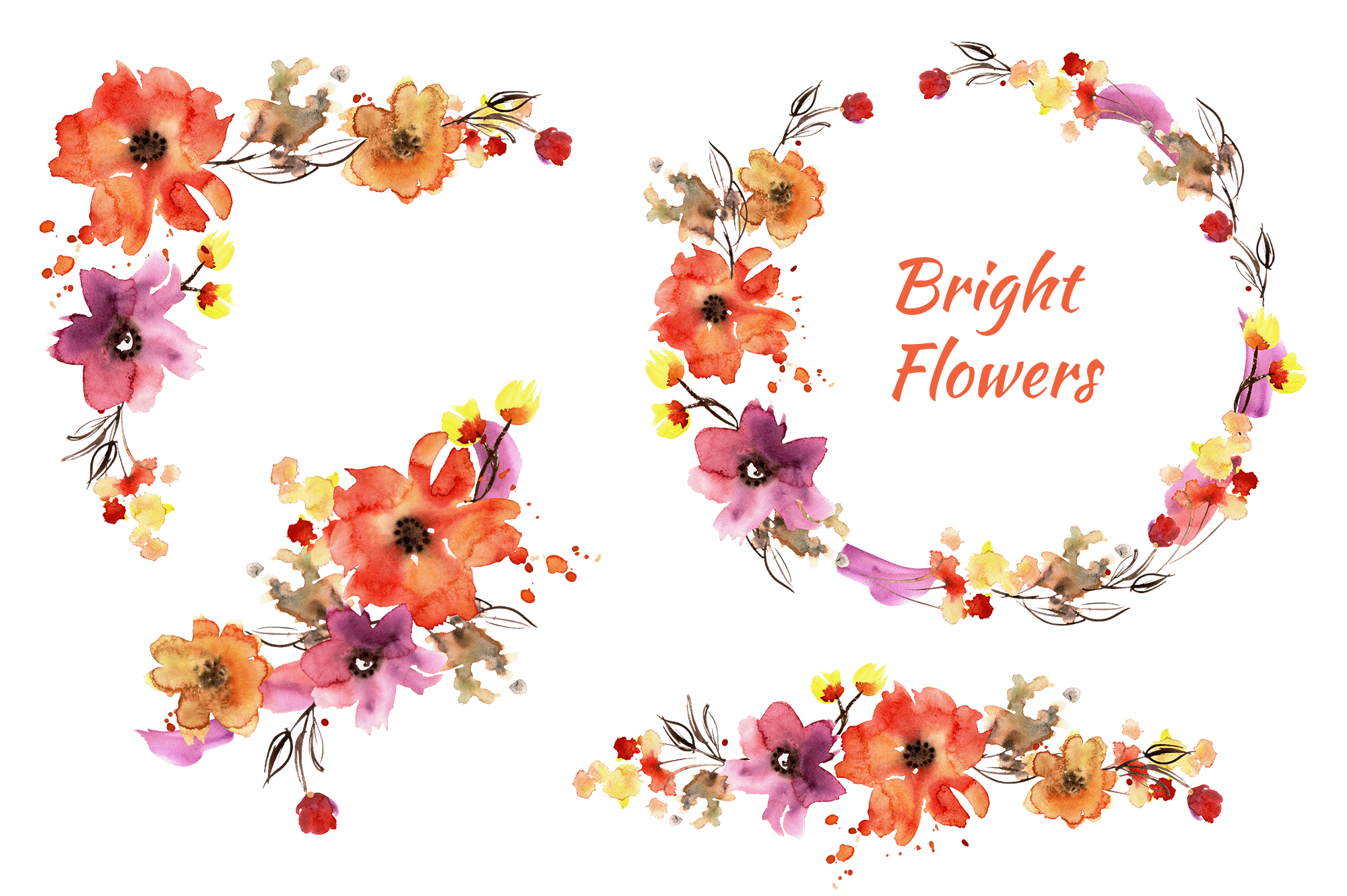 Bright flowers example image 3