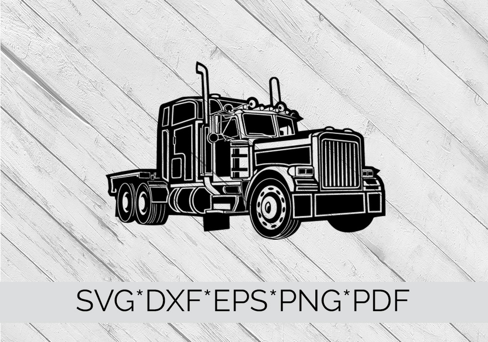 Truck, Lorry, HGV  SVG Cutting File  example image 4