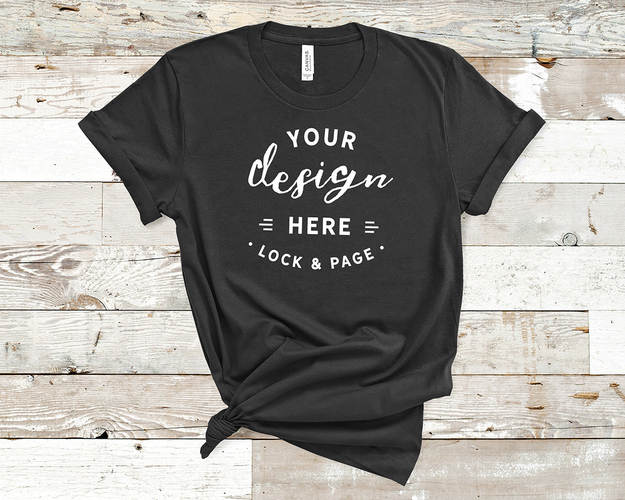 Bella Canvas 3001 Mockup T-Shirt Bundle All Colors On Wood example image 11