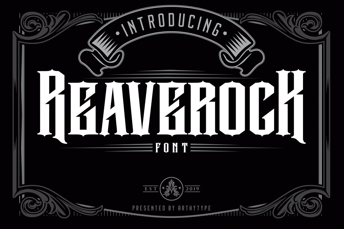 Reaverock Display Font example image 1